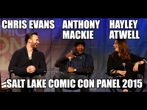 Chris EvansAnthony MackieHayley Atwell Panel at Salt Lake Comic Con 2015