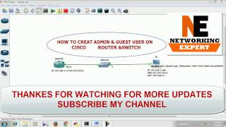 HOW TO CREATE ADMIN & GUEST USER ON CISCO DEVICE