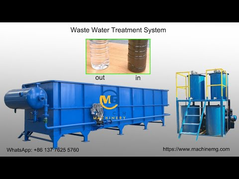 wastewater treatment system/ water recycling system/dirty wa