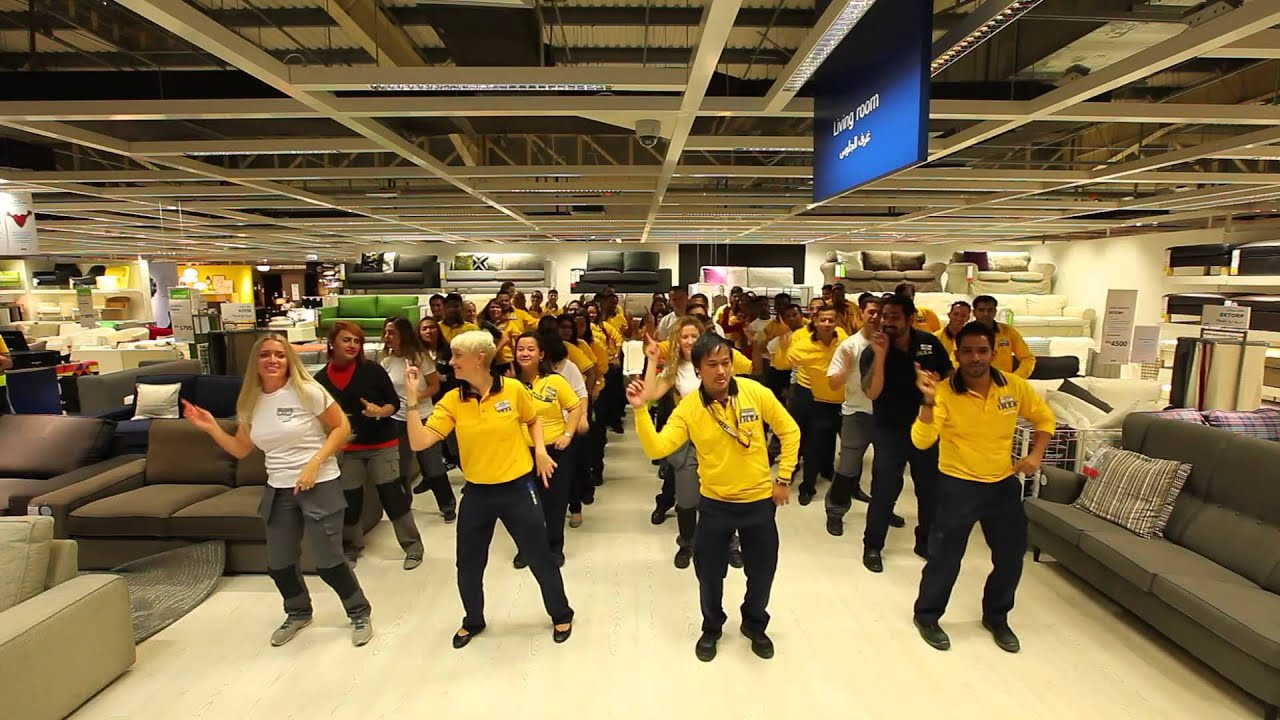 IKEA co workers celebrate in style
