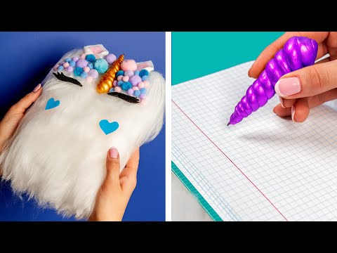 10 Fun DIY School Supplies!  School Hacks and More!