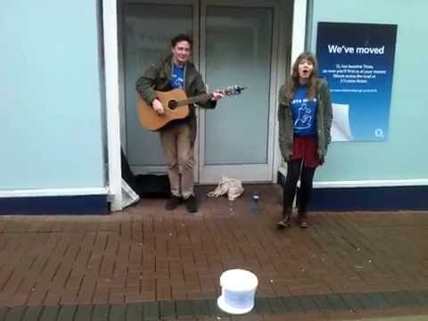 Recover (Chvrches cover) busking for Pieta...