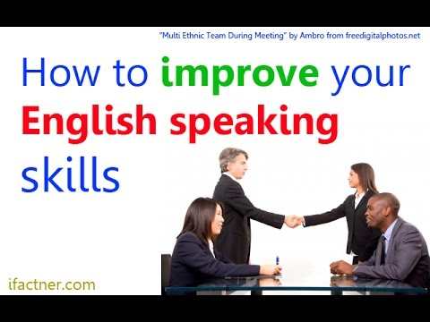 How to improve English speaking skills | English conversation ...