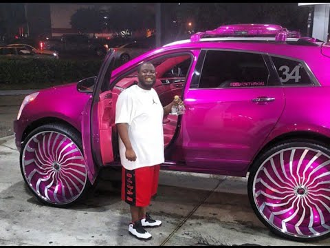 "AceWhips.NET- Candy Pink Cadillac SRX on 34"" Magro Forgiatos"