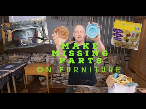 How To Reproduce A Missing Molding Or Part Of Furniture | Mold Making