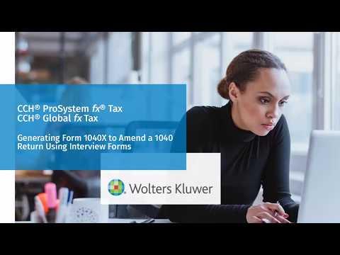 CCH® ProSystem fx® / Global fx Tax: Amending a 1040 Return