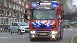 3x Brandweer Mijnsherenlaan 17-3431 met spoed naar verschillende meldingen in Rotterdam