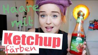 DIY Haare mit Ketchup FÄRBEN