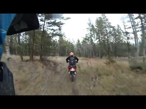 Dirt Bike riding Merritt BC, AWESOME TRAIL