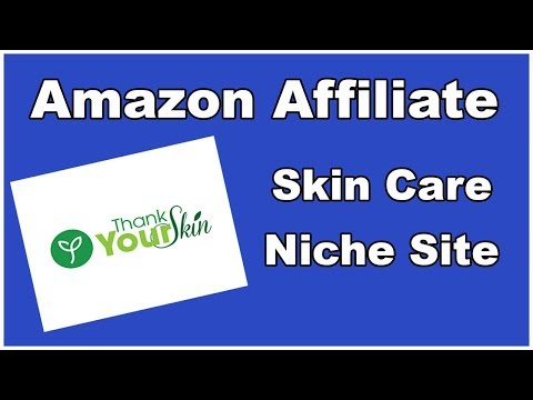 Amazon Affiliate Example - Skin Care Niche Site
