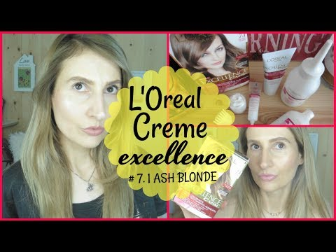 LOREAL CREME EXCELLENCE # 7.1 ASH BLONDE REVIEW & DEMO