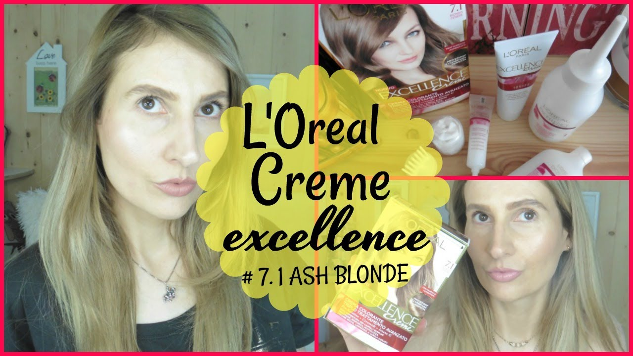 Loreal Creme Excellence 71 Ash Blonde Review Demo Youtube