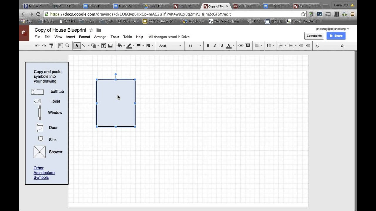 Creating rooms in house blueprint google draw youtube creating rooms in house blueprint google draw malvernweather Choice Image