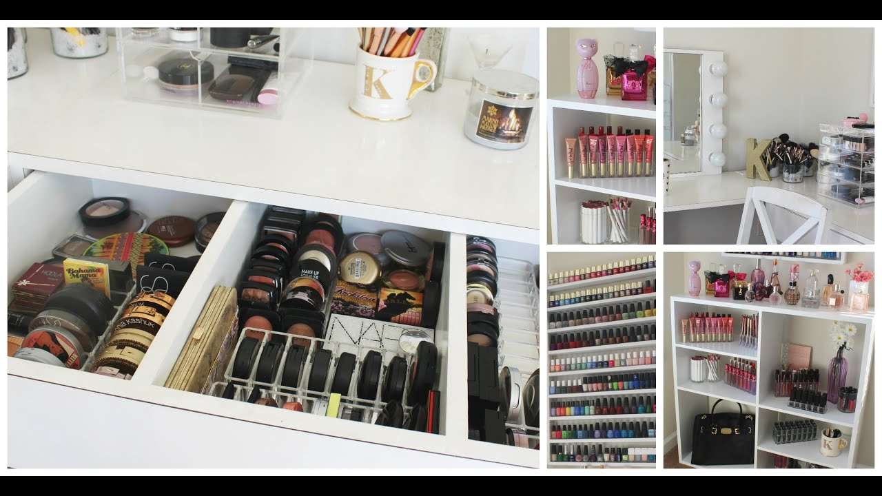Makeup Collection Storage Room Tour Kathleenlights