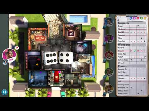 Clue/Cluedo: The Classic Mystery Game (Single Player Match: Medium AI) Hollywood Studio Theme |