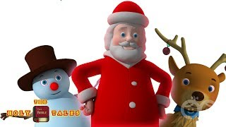 Rudolf The Red Nosed Reindeer I Animated Froztee And Friend Songs | HolyTales Bible Songs