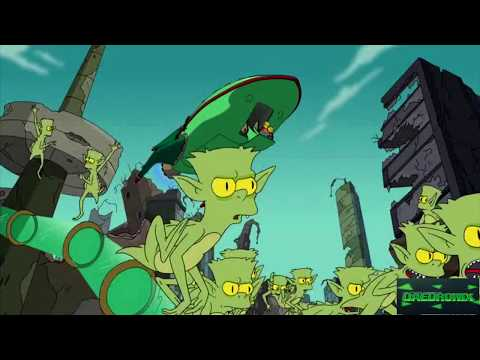 Футурама в Симпсонах #1 Бендер хочет убить Гомера!