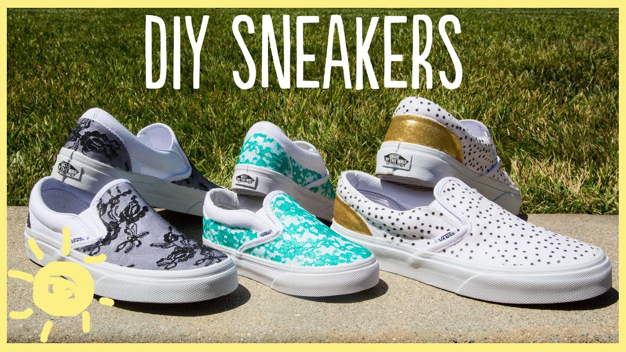 DIY | Lace Sneakers (Cute and Easy!!) - YouTube