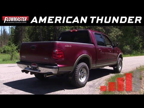 Flowmaster American Thunder Cat-back System - 1998-2003 Ford F-150 - PN 817663