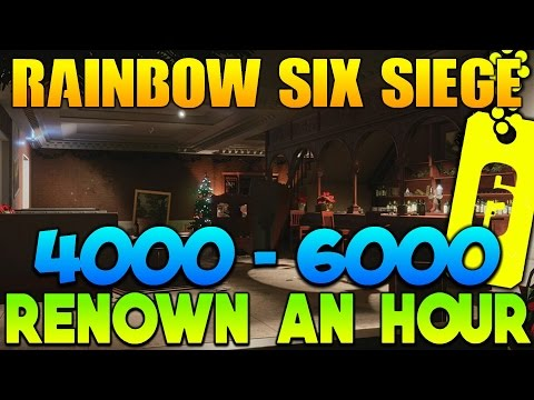 Rainbow Six Siege Easy Renown Farming Guide! 4000 - 6000 Renown an Hour!