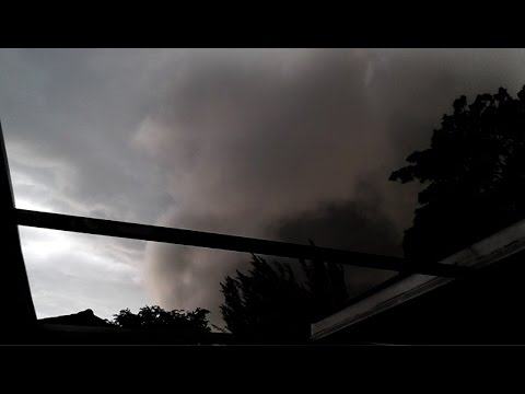 SCARY moving wall of dark clouds over Coral Springs during thunderstorm