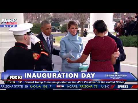 HISTORIC: The Trumps Arrive at White House on Inauguration Day and are Greeted by Obamas (FNN)