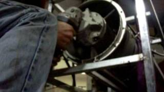 TRI-60 Jet Engine Test 1: Starter Spool Up Test of 1300 HP Jet Engine, No Fuel or Spark