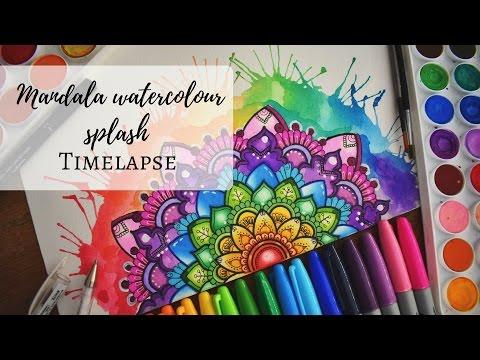 Colourful Mandala Watercolour Splash