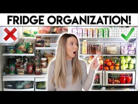 FRIDGE ORGANIZATION IDEAS **CLEAN WITH ME**