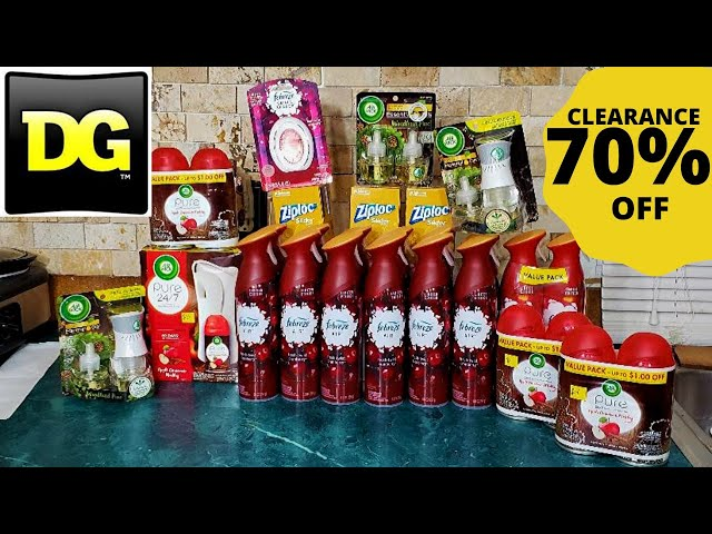 #DOLLARGENERAL  MY HUGE 70% OFF CLEARANCE FINDS AT DOLLAR GENERAL/ CHEAP PRICES ON FEBREZE/AIRWICK