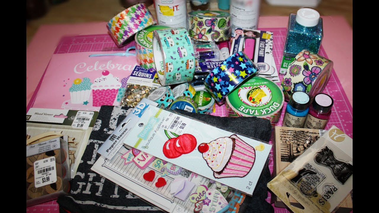 Walmart haul tuesday morning haul mostly clearance craft for Clearance craft supplies sale
