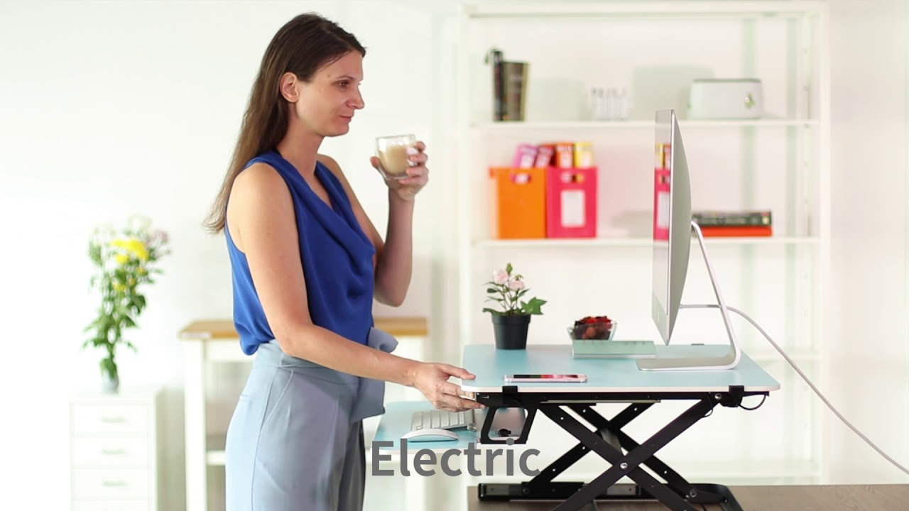 Fitfit dual colored electric standing desk video - YouTube