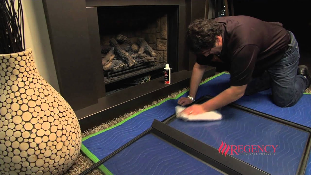 Glass Screen For Gas Fireplace How To Clean The Glass On Regency Ce Series Clean Face Gas Fireplaces
