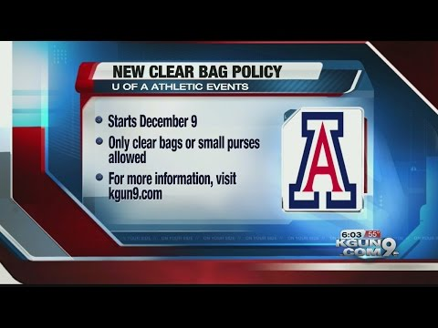New bag policy implemented at Arizona Athletics events