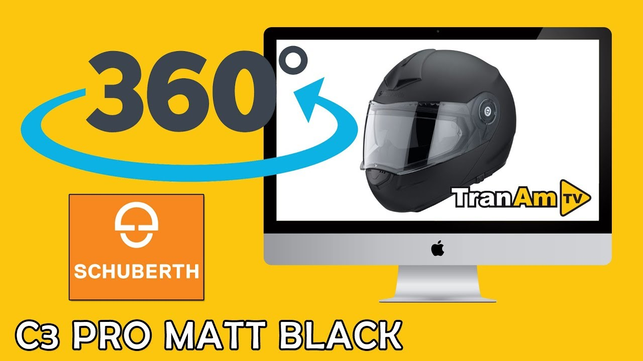 75d292b4f9281 SCHUBERTH C3 PRO Matt Black Flip Front Motorcycle Helmet - 360 HD ...