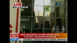 UB: Mga pasahero sa MRT-North Ave. Station, nagdaratingan na