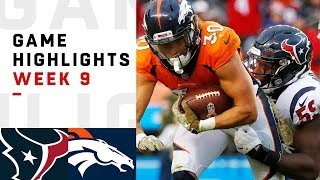 Texans vs. Broncos Week 9 Highlights | NFL 2018