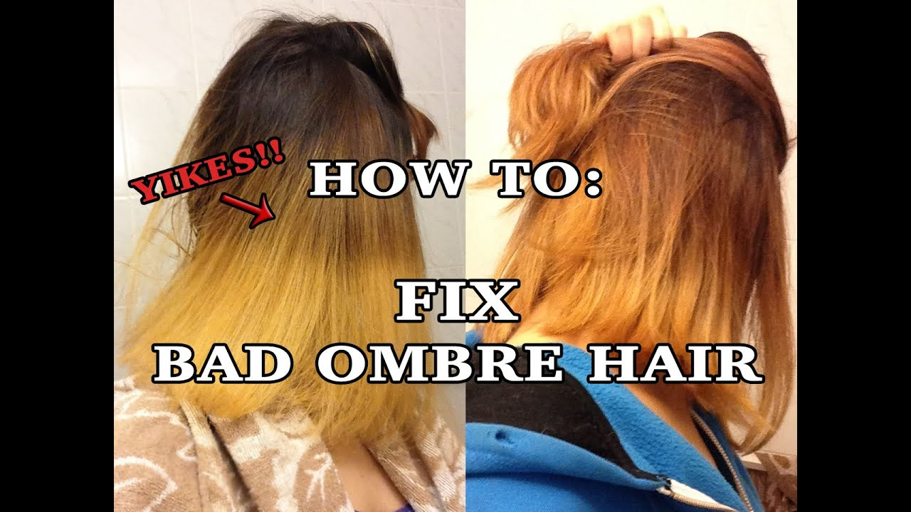 How To Fix Bad Ombre Youtube