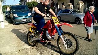 1987 CR 500 cold start with trainers