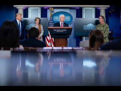 """""""April 6, 2020   Members of the Coronavirus Task Force Hold a Press Briefing"""" - 5:00 PM"""