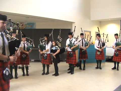 Portree High School pipe band