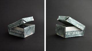 Cool Money BOX Origami Dollar Tutorial DIY by NProkuda
