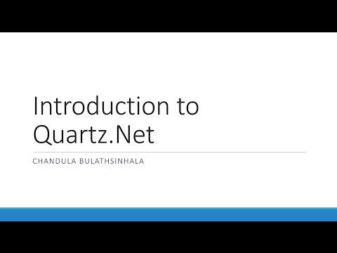 Introduction to Quartz.Net