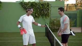 Repeat youtube video Cristiano Ronaldo vs Rafa Nadal in Nike Commercial
