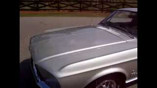 1967 Ford Mustang Fastback Silver Frost  4-speed A-Code Walk Around Tour