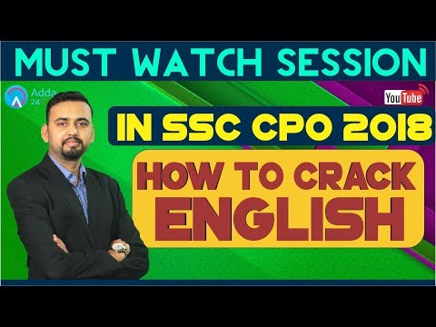 How To Crack English In SSC CPO 2018 By Saurabh Sir | Must Watch Session
