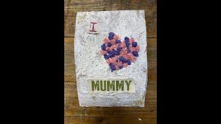 Mother's Day homemade gift class - I Love Mummy canvas