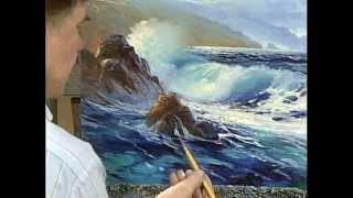 видеоурок живопись маслом море освещённое солнцем