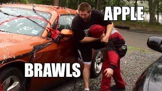 MJ APPLEBALLS BEAT DOWN! VANDALIZES GRIMS CAR!!