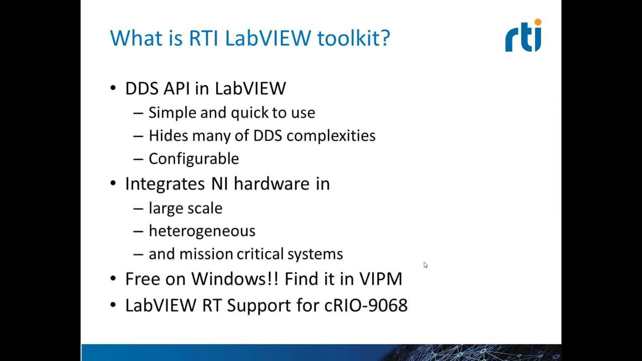 Lunch & Learn #1: Andre Odermatt on the RTI DDS Toolkit for LabVIEW